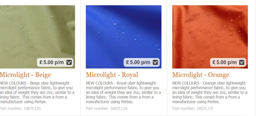 Waterproof fabrics from Croft Mill
