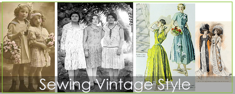 Sewing Vintage with modern Fabrics