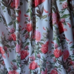 Peonie- Silky Satin- Polyester- Floral -Dress fabric- D