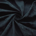 Dinner Party - Black Floral Acetate Polyester Taffeta Dress Fabric