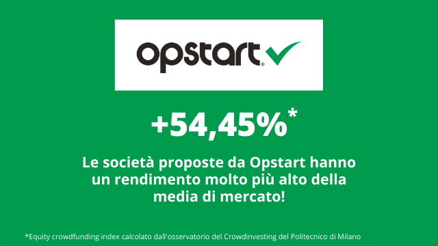 Equity crowdfunding index: quello di Opstart è superiore alla media!