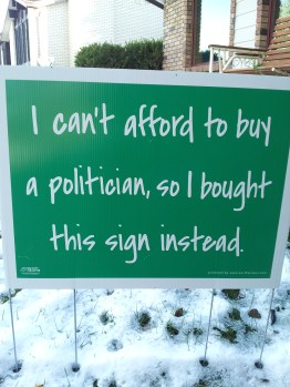 Politician Sign