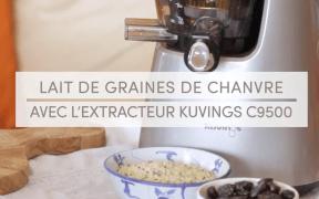 Lait Végétal aux graines de chanvre Extracteur de jus Kuvings