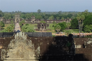 Angkor Wat View from the top level