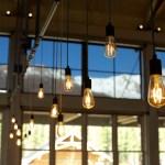 Light fixtures at Denali Square