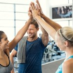 The onboard fitness center offers many group fitness classes