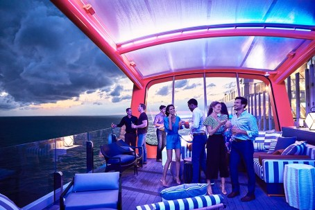 Enjoy the sights, sounds and socializing at Magic Carpet on Celebrity Edge
