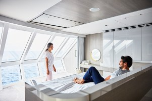 Celebrity edge Iconic Suite has gorgeous seaviews from bedroom