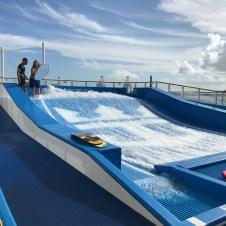 Royal Caribbean's Flow Rider surf simulator