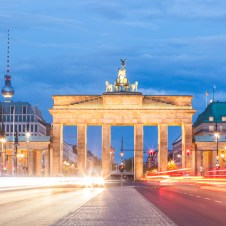 Berlin's Brandenburg Gate at sundown
