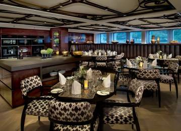 Beautiful onboard dining options add to the overall cruise experience