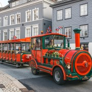 Sightseeing train in Bergen, Norway