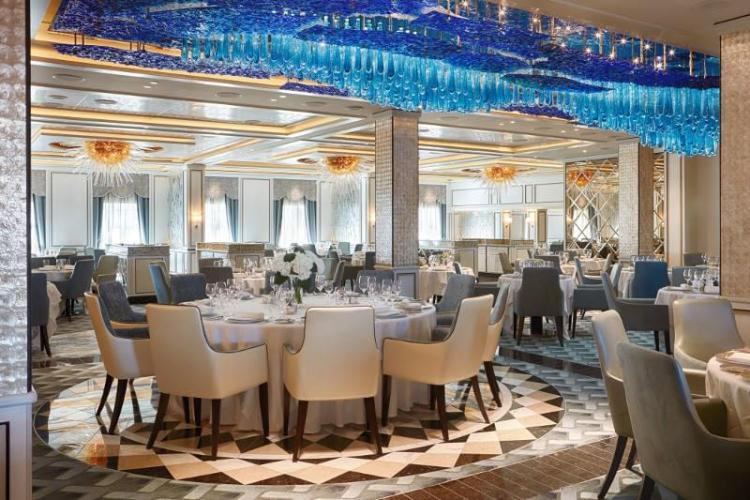 Compass Rose Restaurant on Regent Seven Seas Explorer