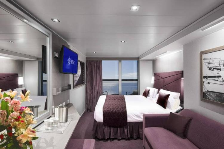 Balcony Stateroom on the MSC Seaside