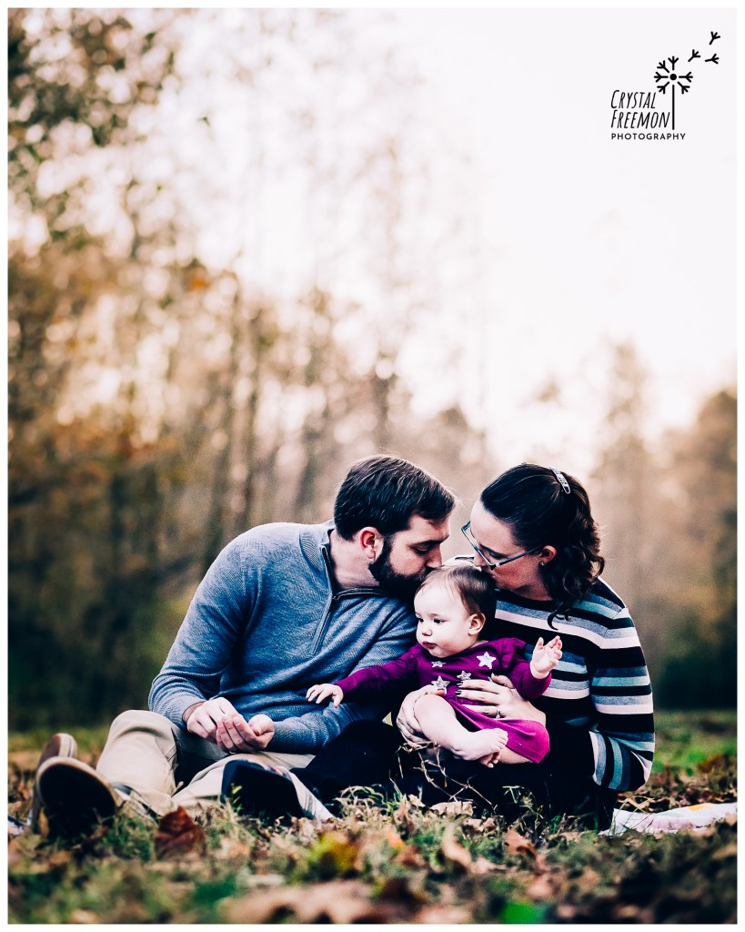 Spring Hill Family Portrait Session with 10 Month Old Baby GirL