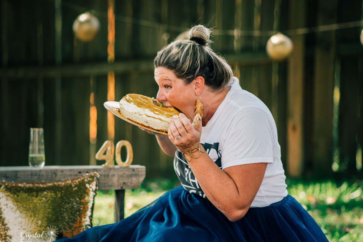 40th birthday cake smash photo session