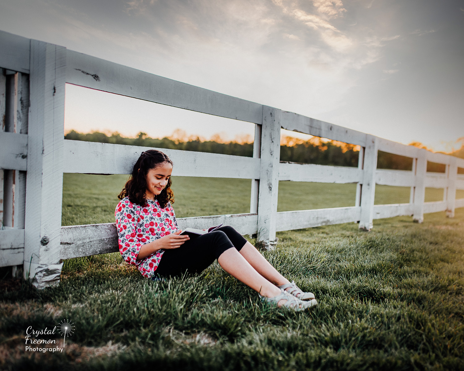 Family of Five Portraits at Harlinsdale Farms