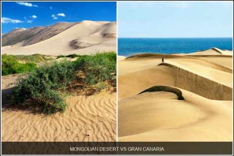 Mongolian Desert vs. Gran Canaria