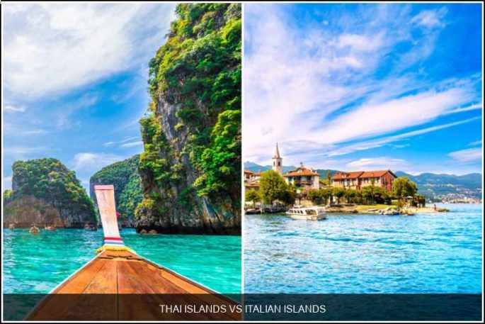 Thai islands vs. Italian islands