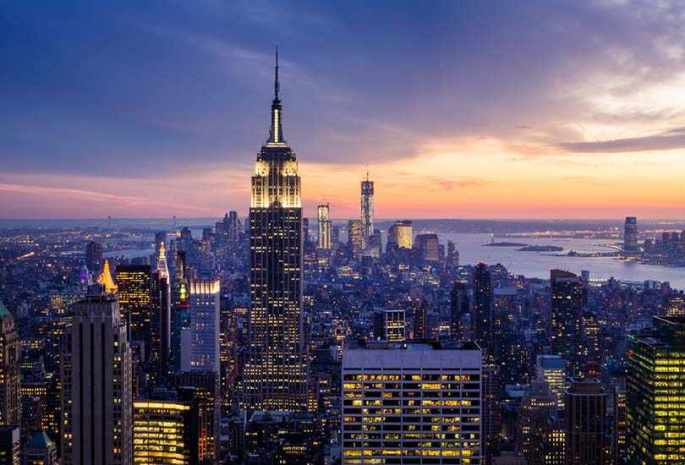 Enjoy the skyline views from the iconic Empire State Building