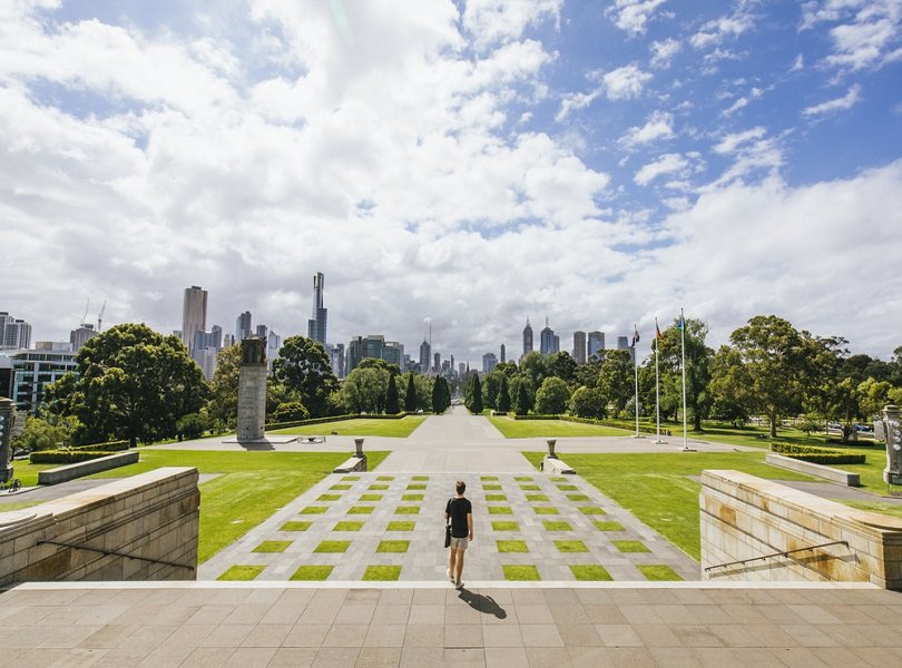 VISIT TO THE SHRINE OF REMEMBRANCE