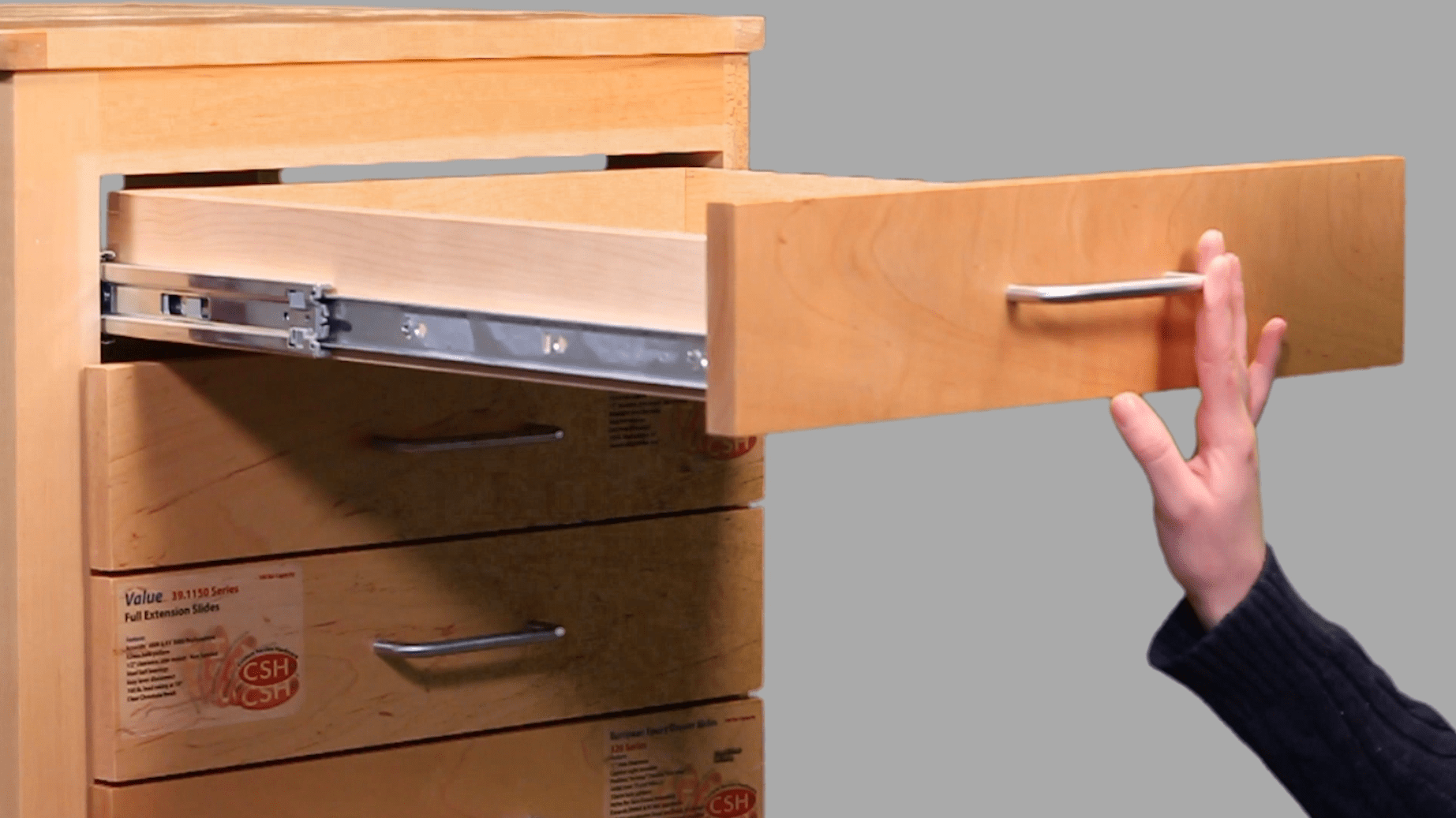 replacement kitchen drawer box refinish sink builders show how to choose the right cabinet slide