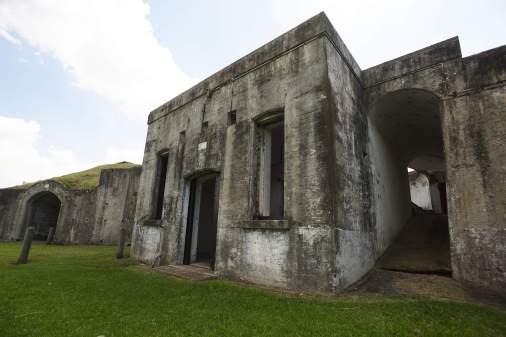 19th century Brisbane River defences at Fort Lytton, Brisbane