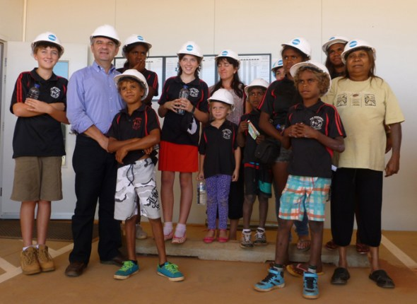 Hard hats proved a definite hit with the young visitors!