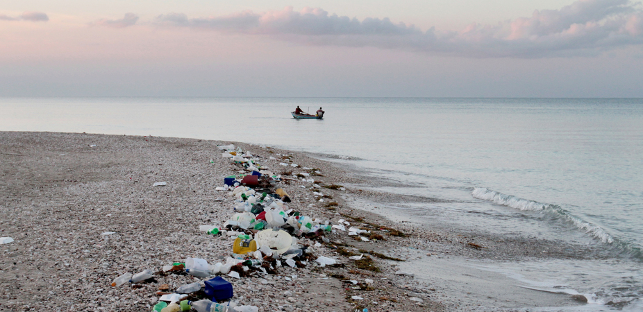 Plastic waste washed up on a beach in Haiti. Image: Timothy Townsend