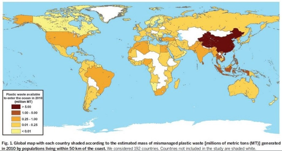 A map of most polluted countries
