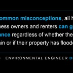 You can be properly insured ─ even in a floodplain