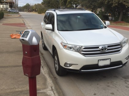 Don't park at an expired meter. The LED screen displays rates, times you have to pay, free times, and when parking is not allowed.