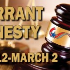 Pay heed to warrant amnesty and save money, avoid jail