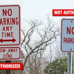 "Posting your own ""No Parking"" sign isn't a solution"