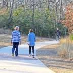 Practice courtesy on Lick Creek Hike and Bike Trail