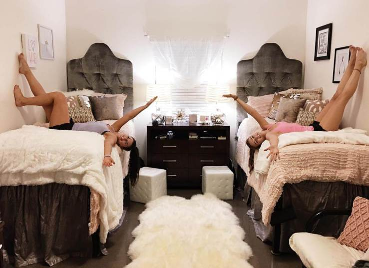College Bedroom ritz carlton or college dorm room? you tell us. — curtsy: the blog