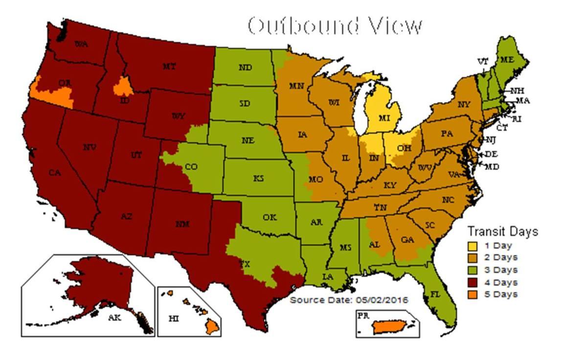 UPS-map