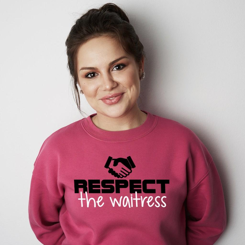 print on demand waitress hoodie