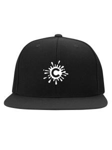 flat bill snapback hat mockup