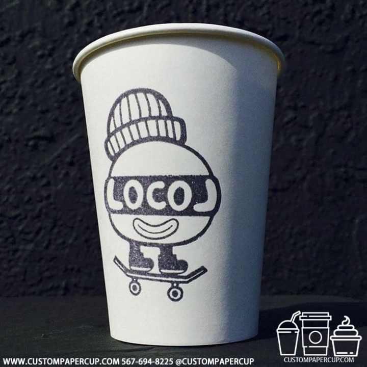 locol skateboard funky coffee cup