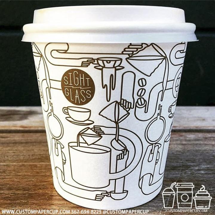 sightglass cafe mosaic painted coffee cup