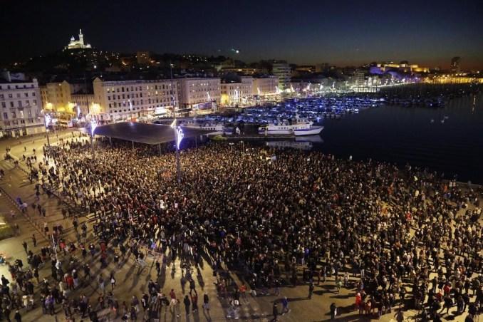 Marseille Vieux-Port, le 7 janvier au soir