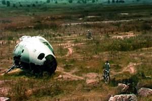 Une carcasse d'avion abandonnée...
