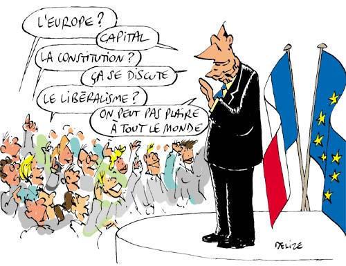 Chirac et la Constitution Européenne