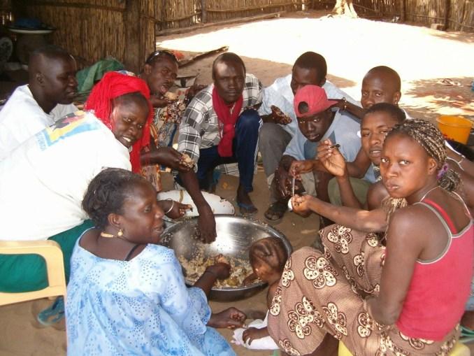 En famille, au Sénégal...