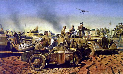 Le Dakar 2006... ah non, au temps pour moi, c'est l'Afrika Korps de Rommel en 1941 !