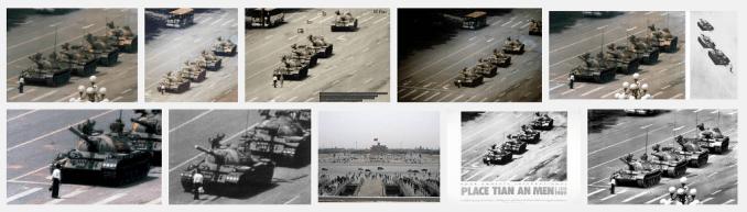 """Tiananmen sur Google images, dans le monde """"libre""""..."""