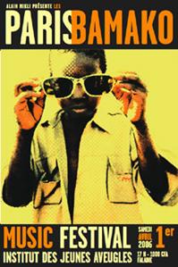 Affiche du festival Paris Bamako
