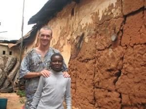 Avec mon filleul, au Bénin