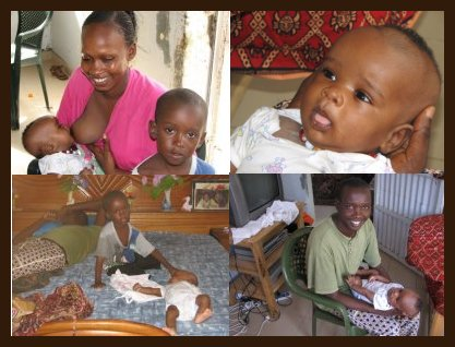 Photos de famille autour du petit Omar...